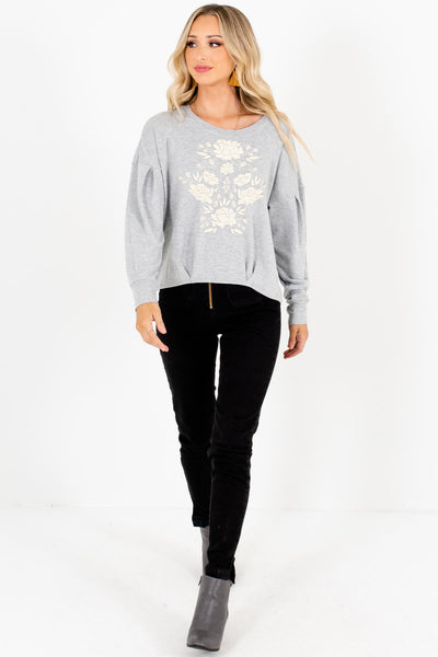 Heather Gray Cute and Comfortable Boutique Pullovers for Women