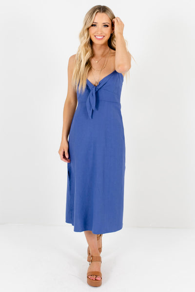 Indigo Blue Cute and Comfortable Boutique Midi Dresses for Women