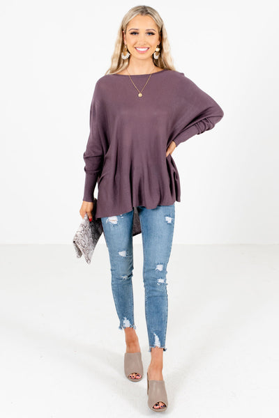 Purple Cute and Comfortable Boutique Tops for Women