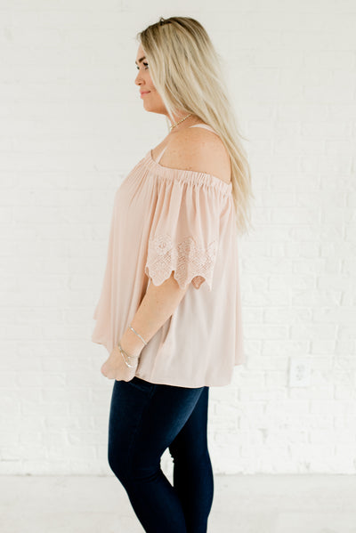 Blush Pink High-Quality Plus Size Boutique Tops for Women