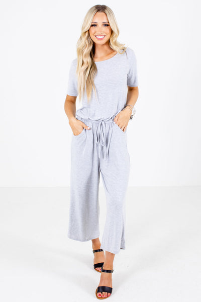Women's Heather Gray Spring and Summertime Boutique Jumpsuit