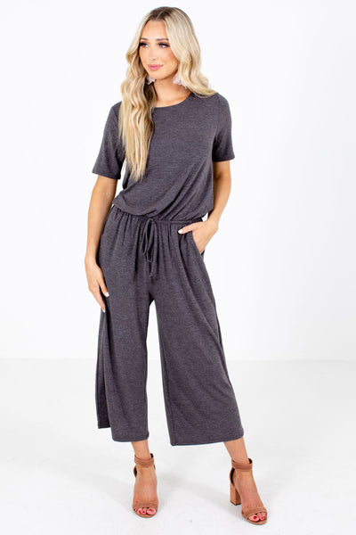 Gray Casual Everyday Boutique Jumpsuits for Women