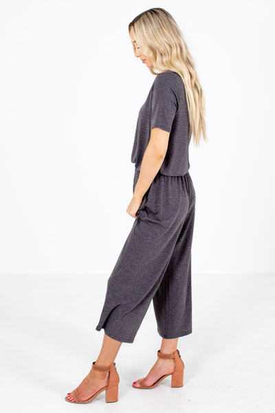 Gray High-Quality Boutique Jumpsuits for Women