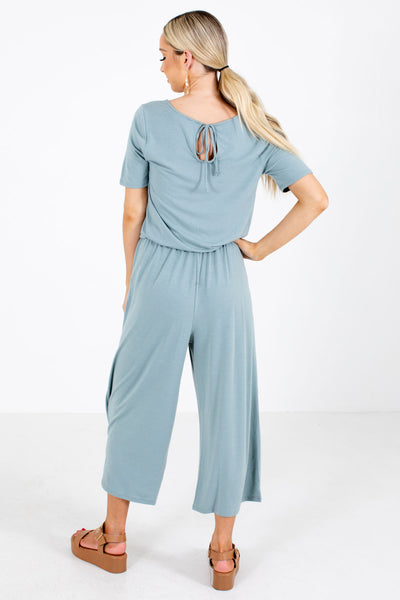 Women's Green Boutique Jumpsuit with Pockets