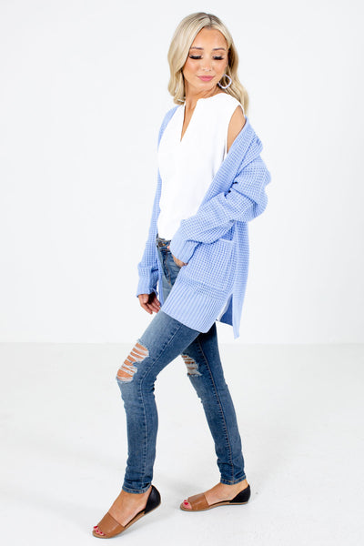 Women's Blue Cute and Comfortable Boutique Cardigan