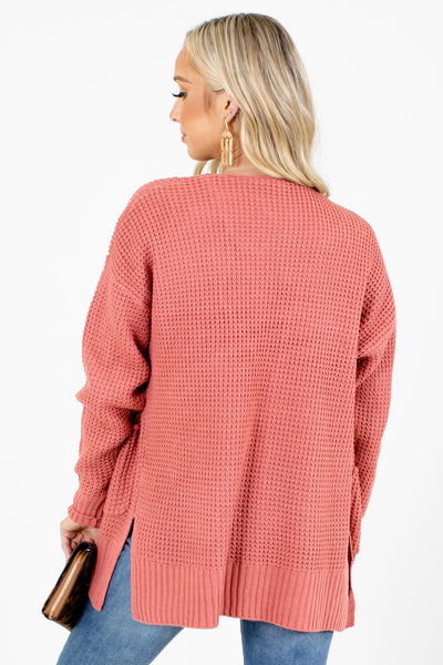 Women's Pink Long Sleeve Boutique Cardigan