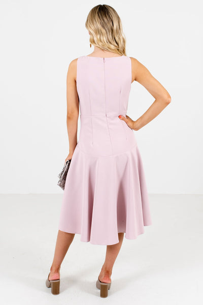 Women's Blush Pink Tank Style Boutique Knee-Length Dress
