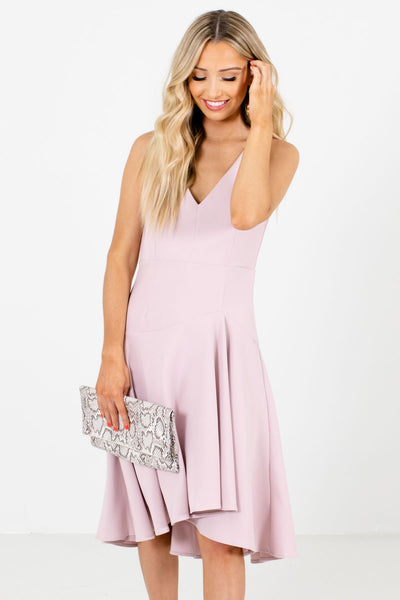 Blush Pink Cute and Comfortable Boutique Knee-Length Dresses for Women