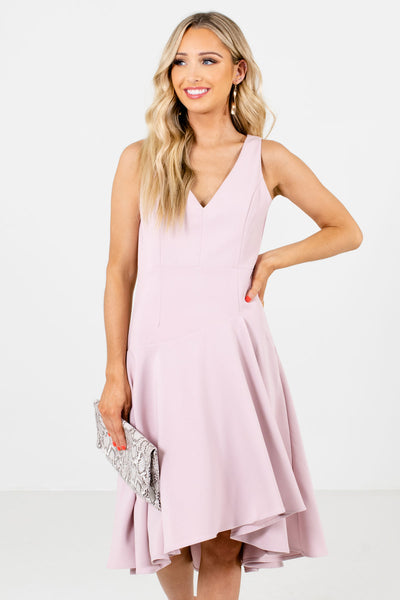 Just Like Heaven Blush Knee-Length Dress