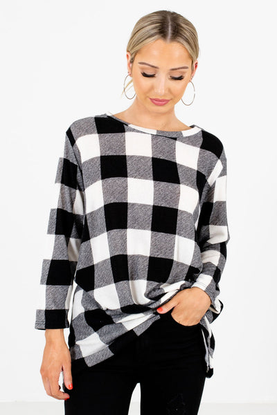 Black Plaid Warm and Cozy Boutique Clothing