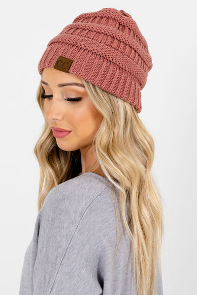 Women's Pink Warm and Cozy Boutique Beanies
