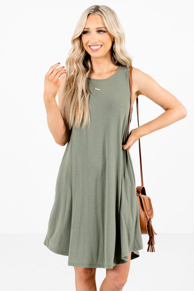 Women's Olive Green Spring and Summertime Boutique Clothing