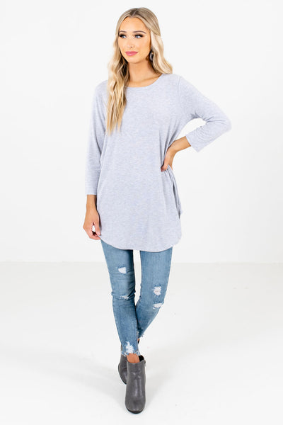 Women's Heather Gray Basics Boutique Top