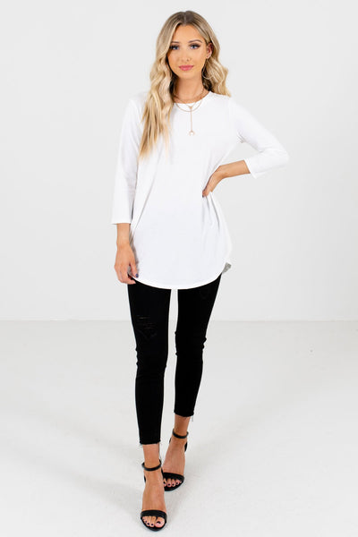 Women's White Basics Boutique Top