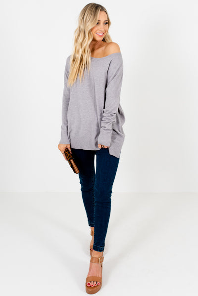 Women's Light Gray Cozy and Warm Boutique Clothing