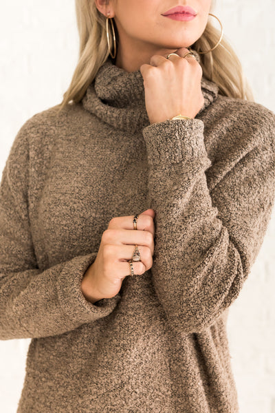 Beige Brown High-Quality Knit Sweaters for Women Cozy