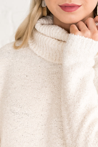 White High-Quality Knit Sweaters for Women Cozy