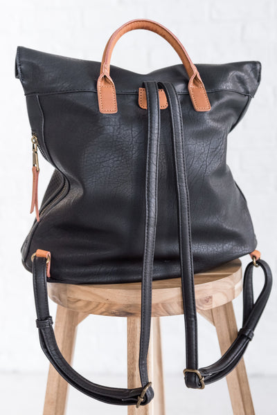 Boutique Backpack with Tan Accents