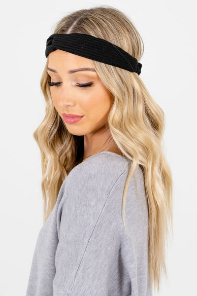 Women's Black Infinity Knot Detailed Boutique Headband