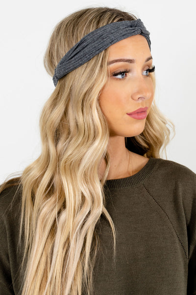 Gray Back Elastic Boutique Headbands for Women