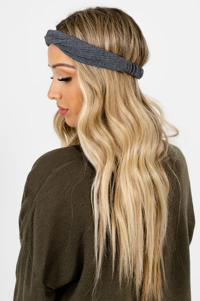 Women's Gray Infinity Knot Detailed Boutique Headband
