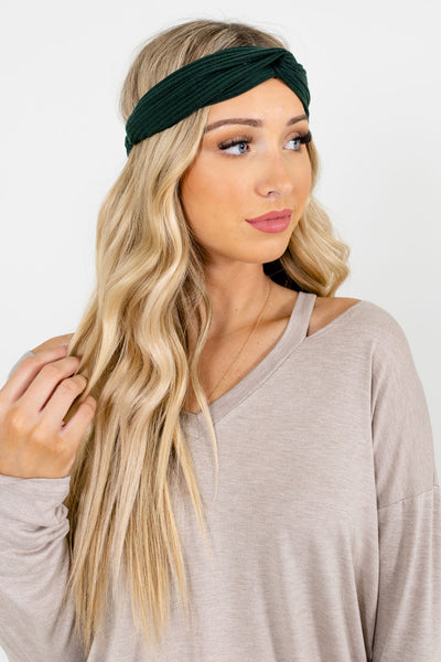 Green Back Elastic Boutique Headbands for Women