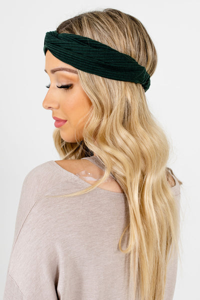 Women's Green Infinity Knot Detailed Boutique Headband