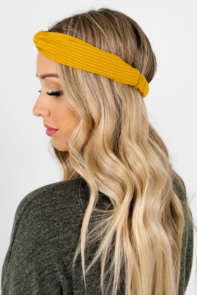 Women's Mustard Yellow Infinity Knot Detailed Boutique Headband