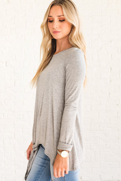 Light Gray Flowy and Flattering Tops for Women