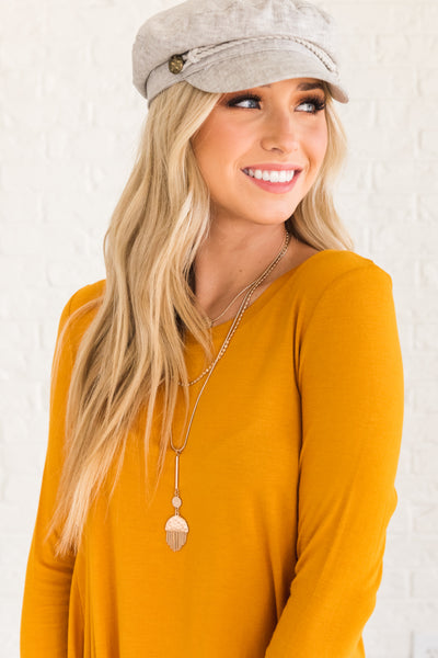 Cute Mustard Yellow Boutique Clothing for Women