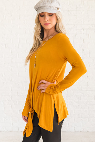 Mustard Yellow Soft and Stretchy Women's Clothing