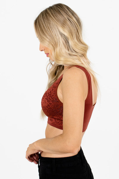 Brick Red High-Quality Material Boutique Bralettes for Women