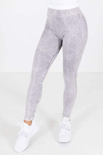 Lavender Purple Mineral Wash Boutique Active Leggings for Women