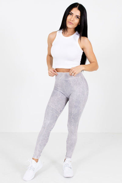 Women's Lavender Purple Casual Everyday Boutique Active Leggings