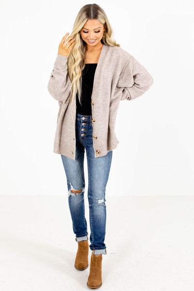 Beige Cozy Fall Sweater for Women
