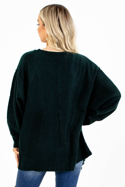 Cozy and Warm Green Cardigan for Women
