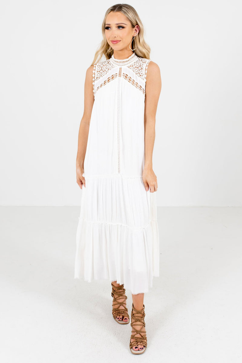 Leave it All Behind White Maxi Dress
