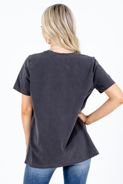 Women's Gray High-Quality Boutique Graphic Tee