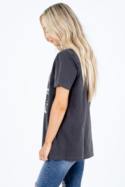 Gray Eagle Graphic Boutique Tees for Women