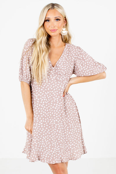 Taupe Cute and Comfortable Boutique Mini Dresses for Women