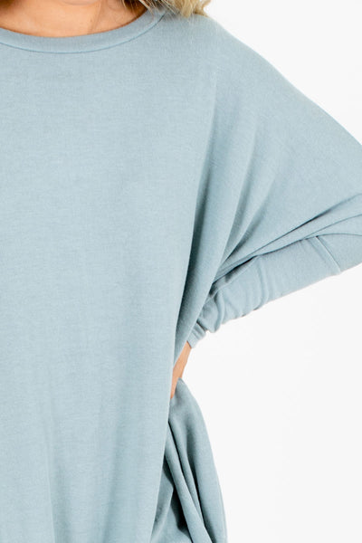 Green Long Sleeve Boutique Tops for Women