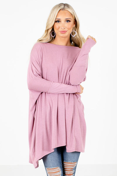 Pink Oversized Fit Boutique Tops for Women