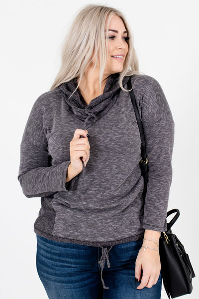 Women's Gray Cozy and Warm Boutique Hoodies