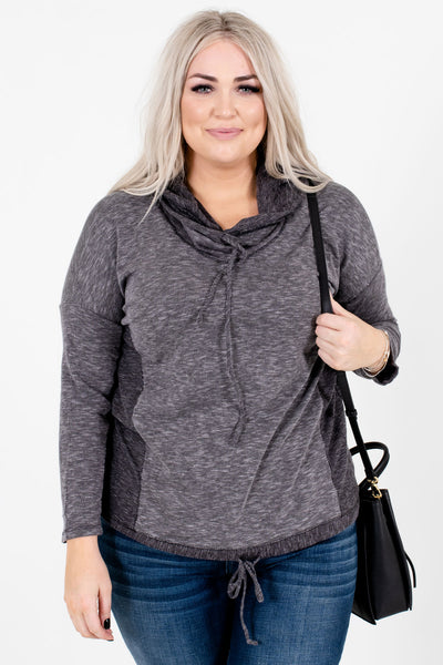 Women's Gray Casual Everyday Boutique Hoodies