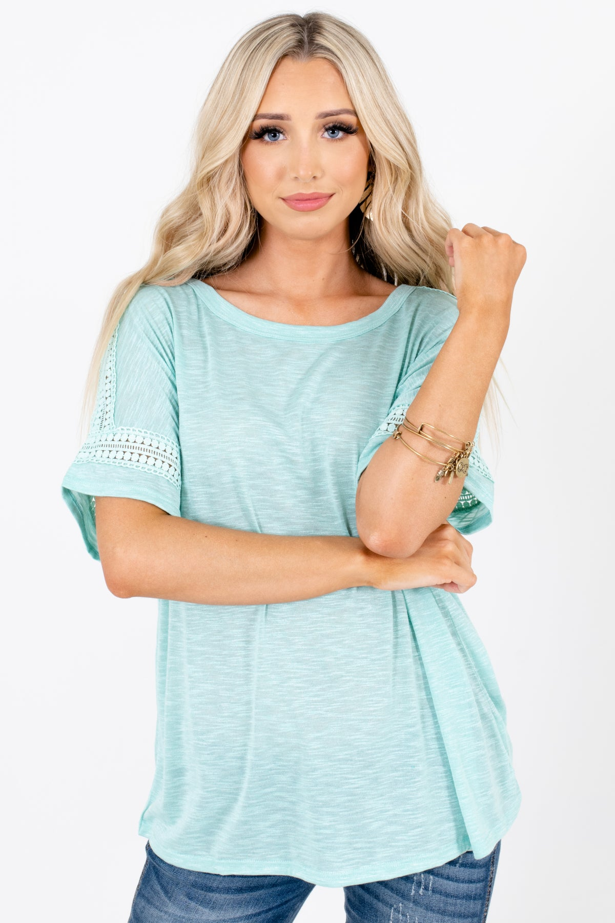 Blue Cute and Comfortable Boutique Tops for Women