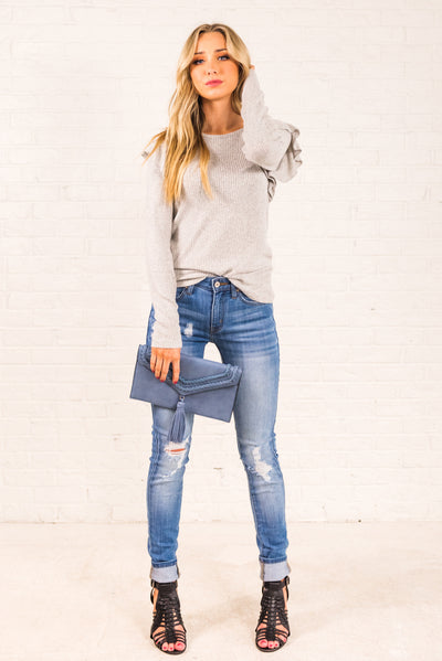 Light Gray Affordable Online Boutique Clothing for Women