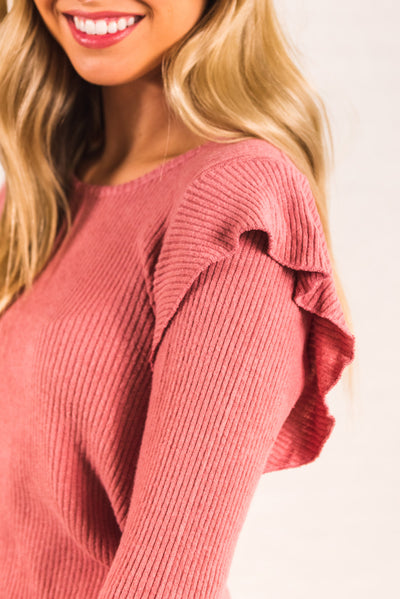 Pink Soft and Stretchy Material Boutique Tops for Women