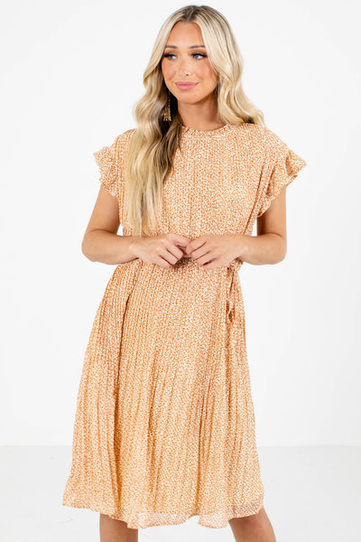 Orange Cute and Comfortable Boutique Knee-Length Dresses for Women