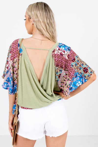 Women's Green Cute and Comfortable Boutique Blouses