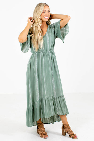 Lights Down Low Patterned Midi Dress